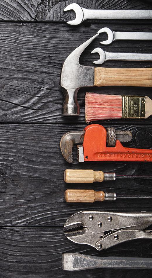 burnt tools
